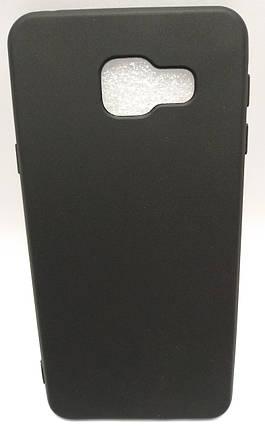 Силиконовый чехол Samsung Galaxy A310 черный, фото 2