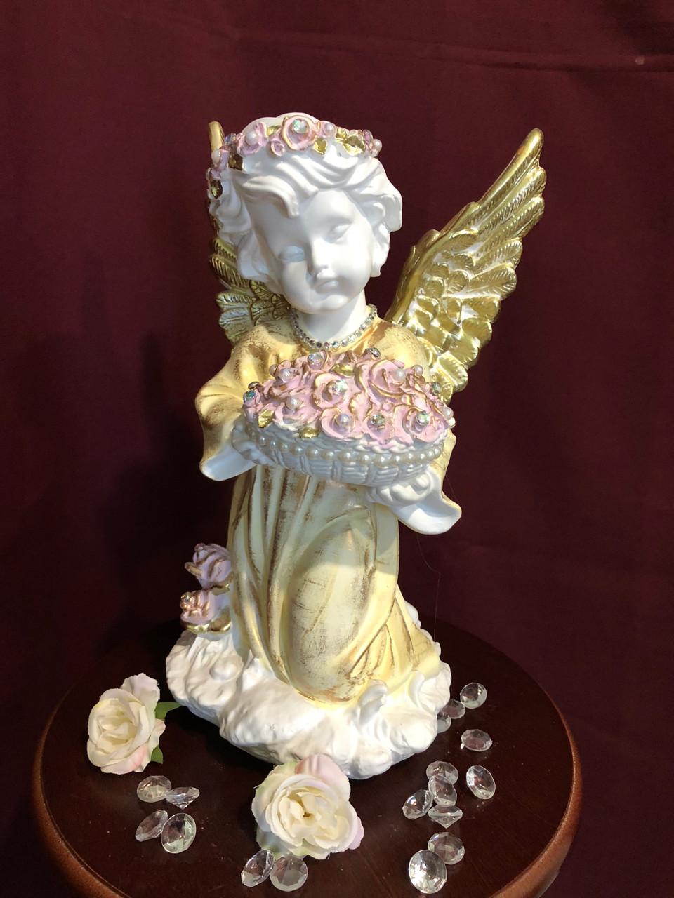 """""""Ангел с чашей с цветами"""" большой , пастель"""