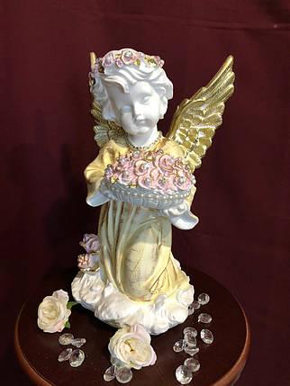 """""""Ангел с чашей с цветами"""" большой , пастель, фото 2"""