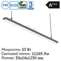 Промышленный светодиодный подвесной светильник яркого света для освещения производственных помещений 1200 ip65
