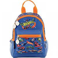 Рюкзак (ранец) дошкольный для мальчика синий Хот Вилл (Hot Wheels), фирменный Kite HW18-534XXS