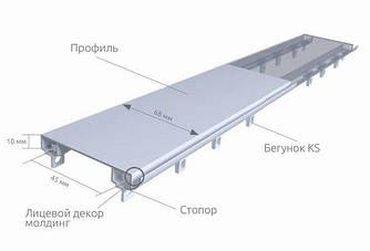 Карниз для штор 2-рядный Евро 10мм усиленный DS