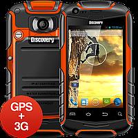 Защищенный смартфон Discovery V5+ GPS, 3G, IP67, Android, 2 SIM. Противоударный и водонепроницаемый!