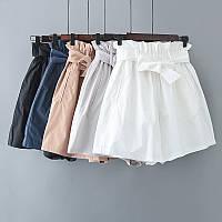 Котоновые шорты с  завышенной талией, фото 1