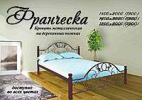 Кровать,,Франческа,, на деревянных ножках