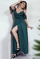 Красивое нарядное длинное платье 33744 48–54р. в расцветках