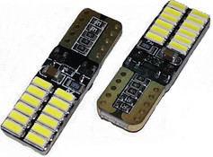 Светодиодная лампа T10 - W5W 24SMD (4014) обманка + драйвер