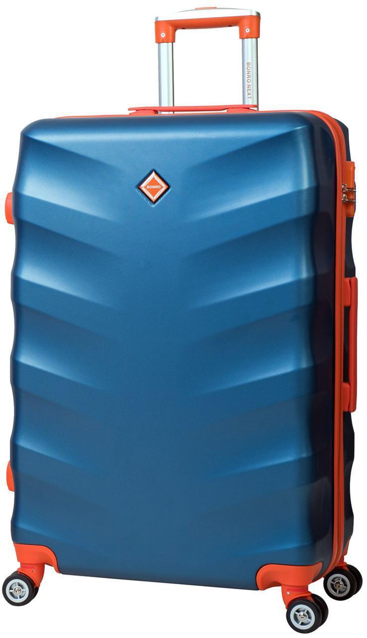 Дорожній валізу на колесах Bonro Next Великий Синій