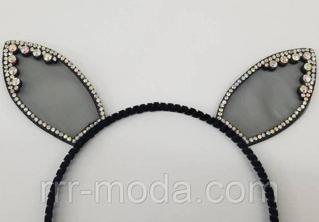 Бижутерия RRR женские аксессуары для волос. Обручи с ушами оптом.