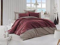 Комплект постельного белья First Choice Deluxe Ranforce полуторный Raina Bordo