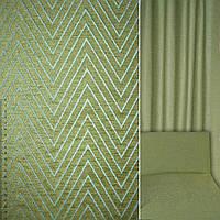 Мебельная обивочная ткань шенилл бирюзовый с оливковой елочкой ш.142