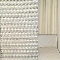 Мебельная обивочная ткань шенилл бежевый в мелкие квадраты ш.140