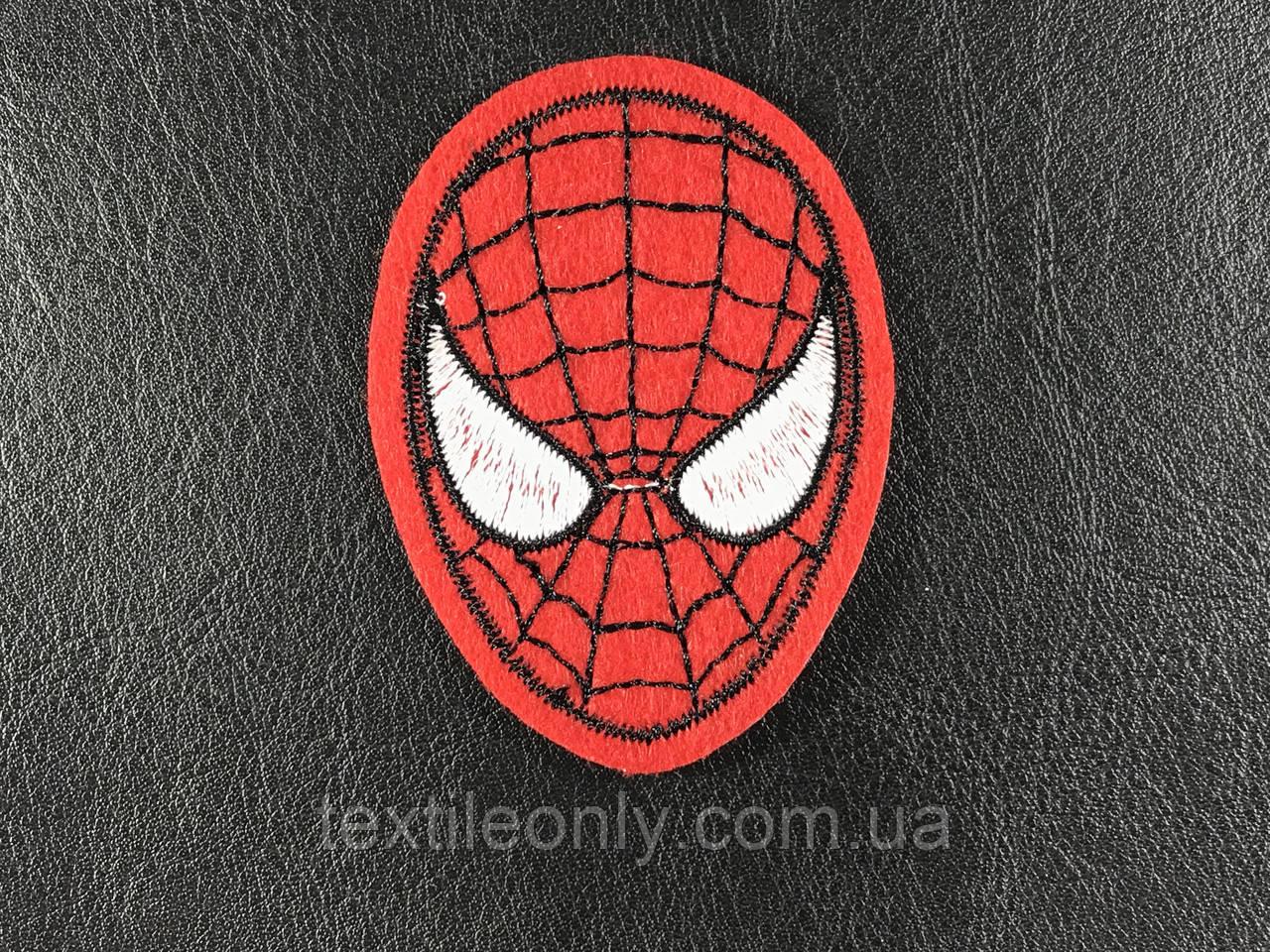 Нашивка человек паук / spider man 43х60 мм