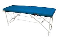 """Массажный стол Ukrestet """"Lux"""", складной, двухсекционный, синий"""
