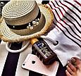 Шляпа канотье соломенная (светлый беж), фото 3