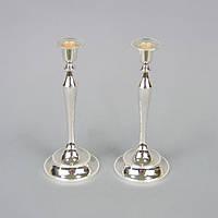 """Набор подсвечников декоративных для свечей """"Luxury"""" M6301, мельхиор, в наборе 2 штуки, 25x10 см, подставка для свечи, подсвечник для декора"""