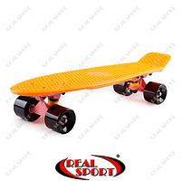 Скейтборд пластиковый Penny Original Fish SK-401-28 (22in, однотонная дека, оранжевый-розовый-черный)