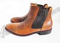 Ботинки коричневые 44,45,46 рзм.