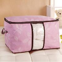 Сумка для одеял спанбонд обычный Genner Home розовая 01107/03, фото 1