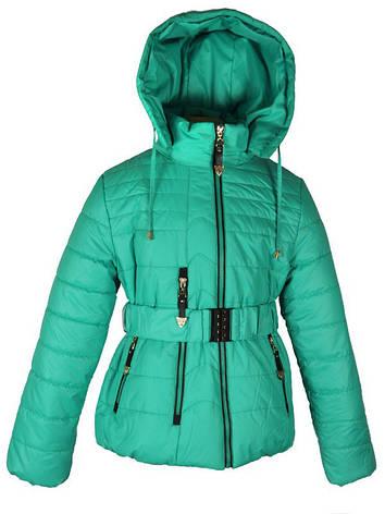 Куртка демисезонная  Moonbox для девочки от 5 до 9 лет зеленая, фото 2