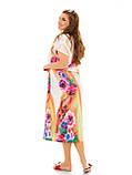 Легкое летнее штапельное платье  батальных размеров , фото 4