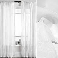 Шифон для штор Вуаль гладкая белая