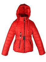 Стильная весенняя куртка для девочки 5-9 лет Moonbox красная