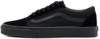 Женские кеды Vans Old Skool 'All Black' (Ванс) черные