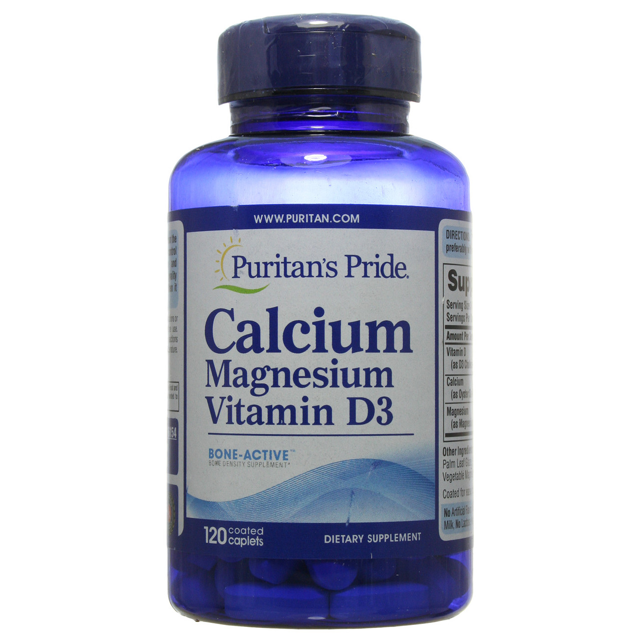 Кальций Магний Витамин Д, Calcium Magnesium with Vitamin D, Puritan's Pride, 120 таблеток
