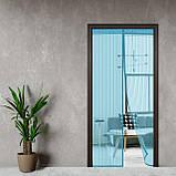 Дверная антимоскитная сетка на сплошном магните 210 x 100 см NOT FLY (синяя), фото 6