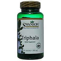 Трифала, Triphala, Swanson, 500 мг 100 капсул