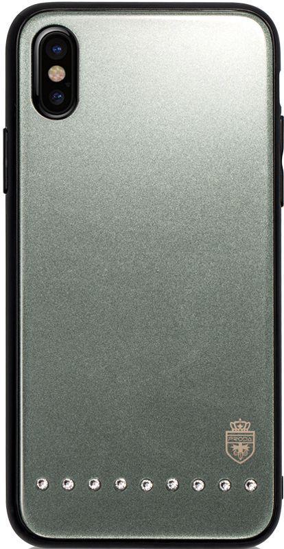 Чехол-накладка Remax Batili Series Glass Case Apple iPhone X Green