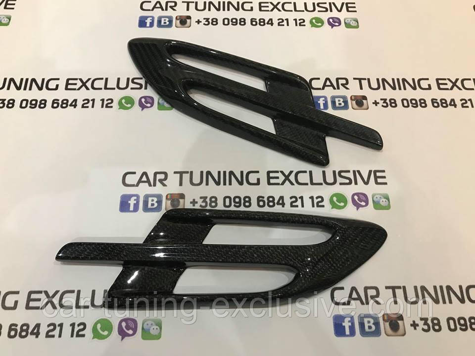 Carbon fender vent grill for Bentley Bentayga