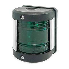 Навигационный огонь зеленый led корпус черный