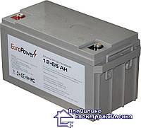 Гелева акумуляторна батарея EuroPower GL 12-65 Аh, фото 1
