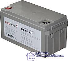 Гелева акумуляторна батарея EuroPower GL 12-65 Аh