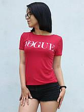 Футболка женская с надписями красный ЛЕТО