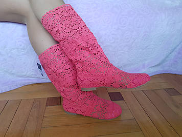 Сапоги Сетка Mei Pink 55