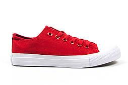 Кеды Converse All Star Женские конверс - red/white (конверсы низкие). Топ Реплика