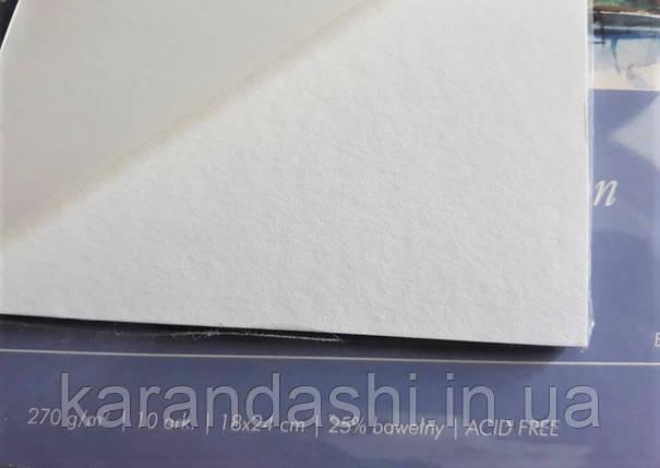 Склейка для акварели 30*40см 270г 10л 25% хлопка W2703040K10 GAMMA Watercolour Torchon Fabriano, фото 2