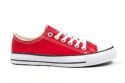 Женские кеды Converse All Star красные (Реплика ААА+)
