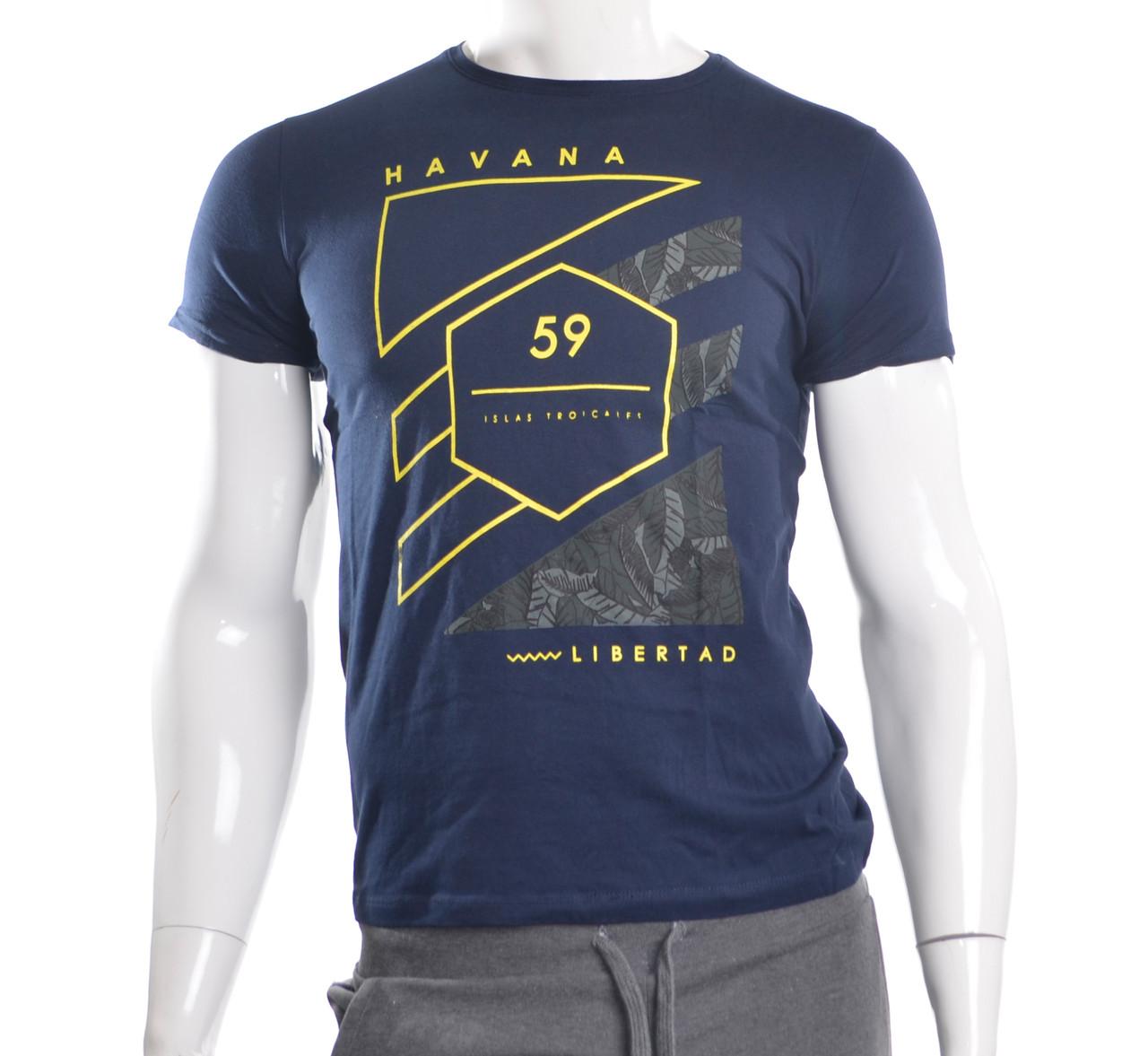 Мужская футболка темно-синяя