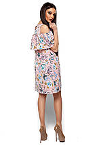 Женское платье А-силуэта с воланом на груди Karree Кения розовое, фото 3