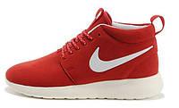 Женские кроссовки Nike Roshe Run High красные