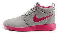 Женские кроссовки Nike Roshe Run High серые, фото 1
