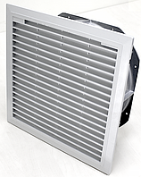 Вентилятор щитовой с решеткой и фильтром для установки в боковую панель или дверь цена купить 1860 м3/ч, 325х325 мм