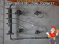 Колектор к газовой плите Грета 1470  14-70 с кранами и смесителями  в сборе