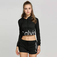 Женский костюм Calvin Klein шорты+кофта с капюшоном, S