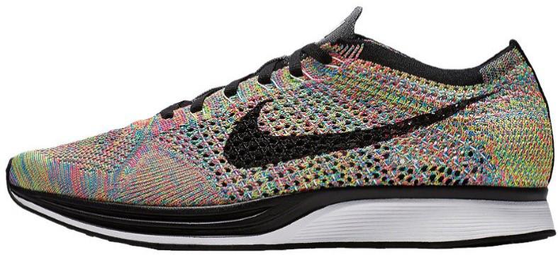 """Мужские кроссовки Nike Flyknit Racer """"Multicolored"""" (Найк Флайнит Рейсер) разноцветные"""