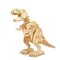 Деревянный 3D динозавр-робот RoboTime T-Рекс с управлением звука (D210)
